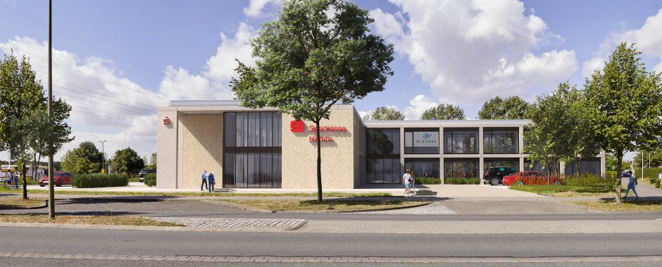 Sparkasse Hamm schließt Mietvertrag mit ecandes für Neubau im Dreiländereck