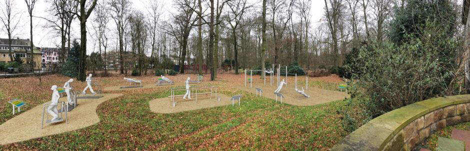 Sparkasse unterstützt neuen Outdoor-Fitnesspark im Kurpark