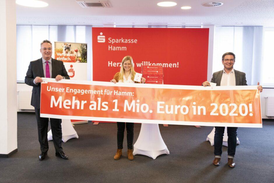 Sparkasse Hamm unterstützt gesellschaftliches Engagement mit über einer Million Euro – 5 Spenden à 500 Euro verlost
